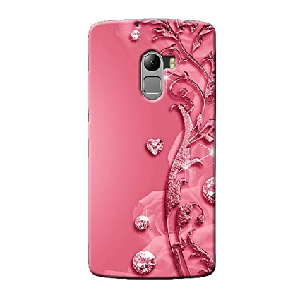 cheap for discount a13fd d41b7 Clapcart Lenovo K4 Note Designer Printed Back Cover for Lenovo K4  Note/Lenovo A7010 - Pink Color (Heart Design for Girls)