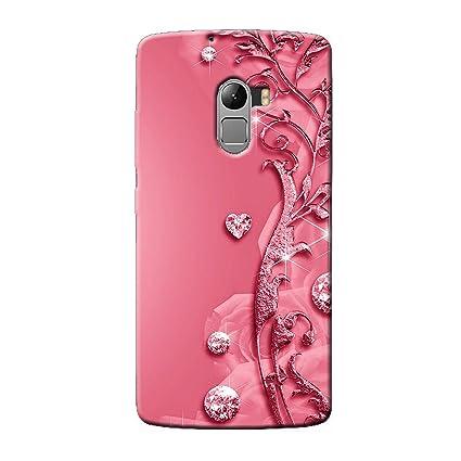 cheap for discount 03646 b6c04 Clapcart Lenovo K4 Note Designer Printed Back Cover for Lenovo K4  Note/Lenovo A7010 - Pink Color (Heart Design for Girls)