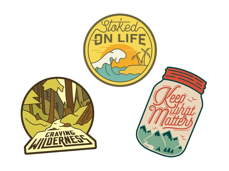 Asilda Store Adventure Sticker Set #3 [Premium Quality Matte Waterproof Vinyl Stickers for Water Bottles] 4336987412