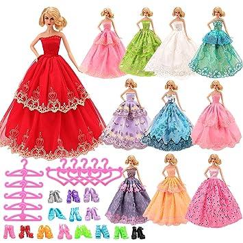 Miunana 2 Abiti Vestiti Da Sposa Lunghi Per 30CM Principessa Bambola Barbie Dolls Regalo