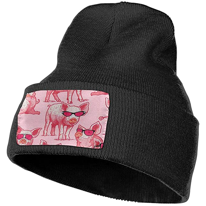 e27a6e68fb7 Amazon.com  Unisex Pig Knit Hat Beanie Skull Caps for Winter Hats ...