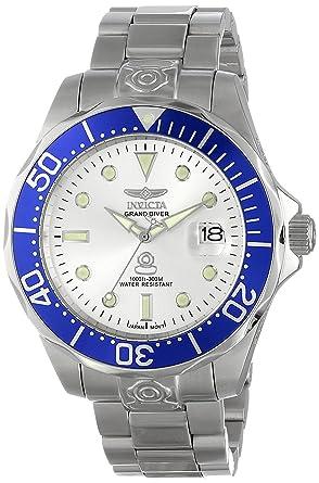 Invicta 3046 Pro Diver Reloj para Hombre acero inoxidable Automático Esfera plata: Invicta: Amazon.es: Relojes