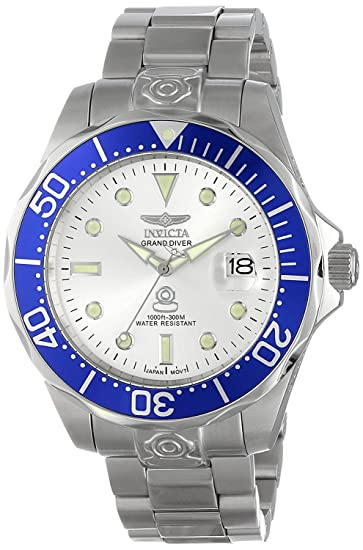 Invicta 3046 Pro Diver Reloj para Hombre acero inoxidable Automático Esfera plata: Amazon.es: Relojes