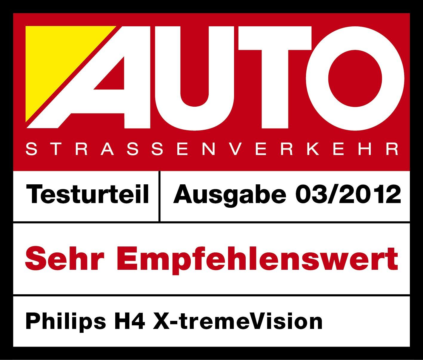 Philips X-tremeVision 2er-Set 130/% H4 Scheinwerferlampe 12342XVS2