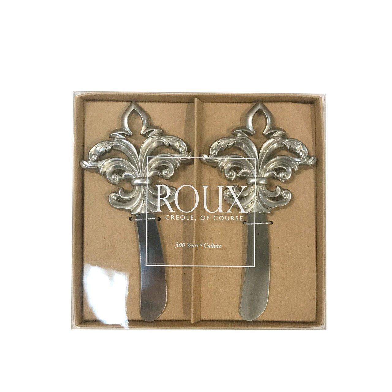 Fleur de lis Spreaders - Matte Silver Roux Brands