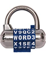 Master Lock 1534D Password Plus Combo Lock in Black, Blue, Red, White, Colors may Vary, 1-Pack