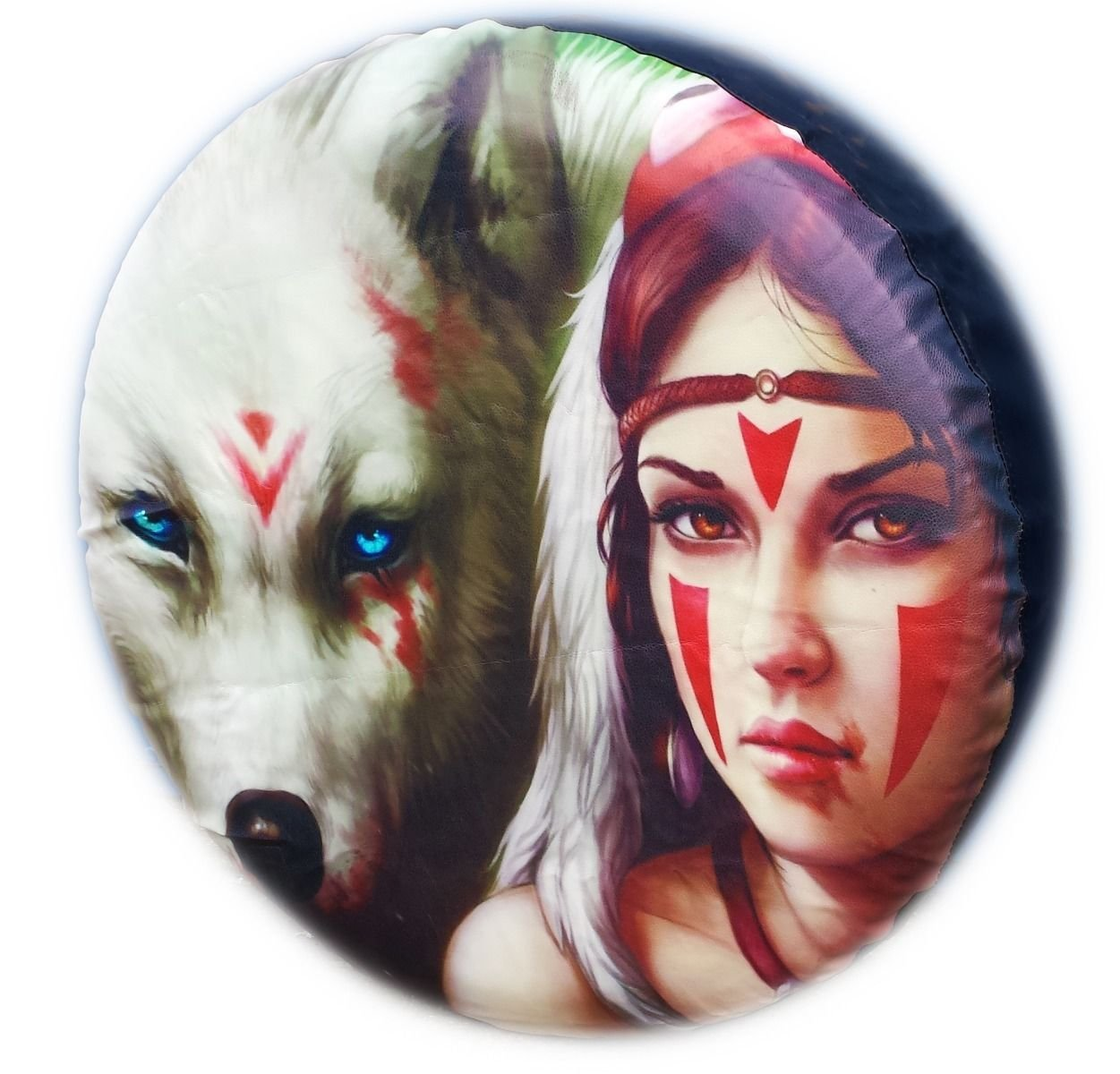 WHEEL COVER WHEELCOVER SPARE TYRE 4X4 WOLF GIRL EROTIC ART - LET US KNOW YOUR SIZE BargainworldUK