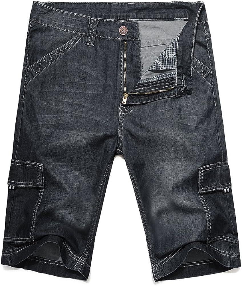 Amazon.com: Pantalones vaqueros para hombre de verano con ...
