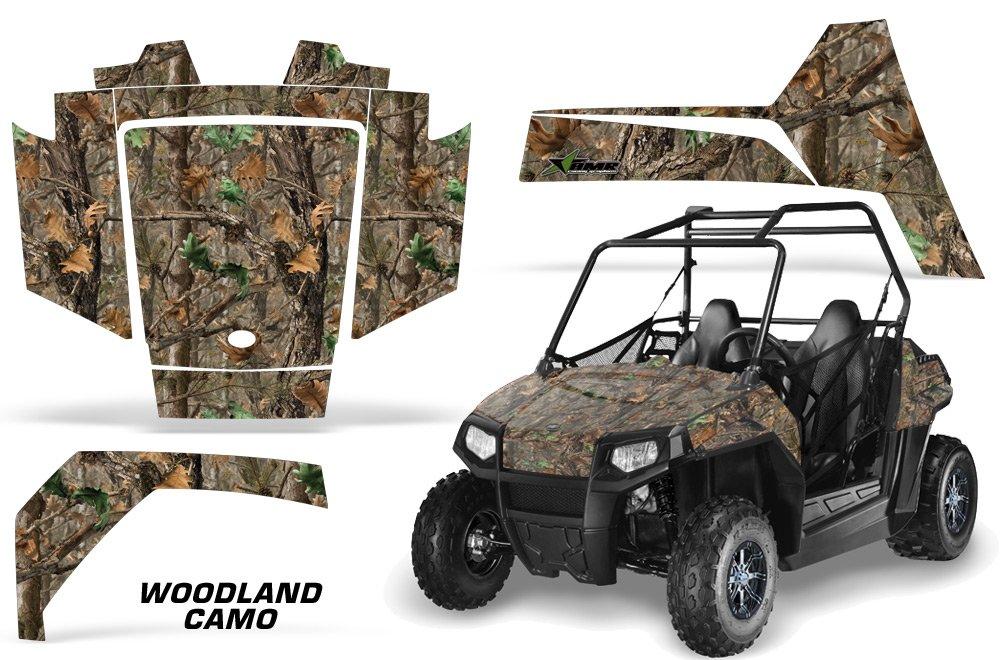 AMRRACING Polaris RZR 170 Youth All Years Full Custom UTV Graphics Decal Kit - Woodland Camo