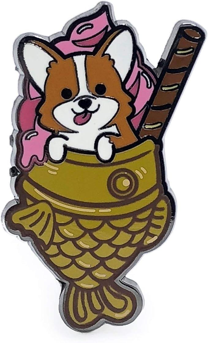 Pig-Yaki Enamel Pin Pig Pin Taiyaki Enamel Pin