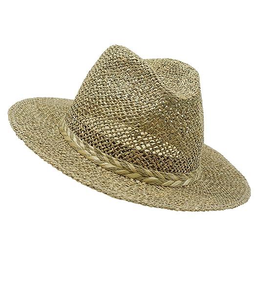 EveryHead Fiebig Cappello Seagrass Paglietta Di Estate Coneflower Spiaggia Paglia  Da Uomo Il Dell Uomo Con Intrecciato Nastro Per Uomini Unisex ... 5d730285ee7b