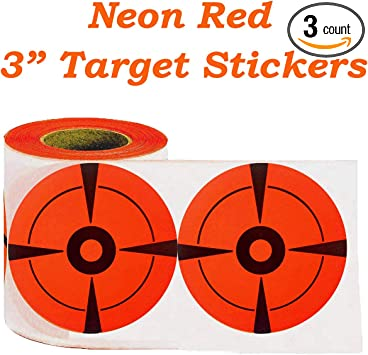 250pack Target Pasters 3Inch Round Fluorescence Adhesive Shooting Paper Target