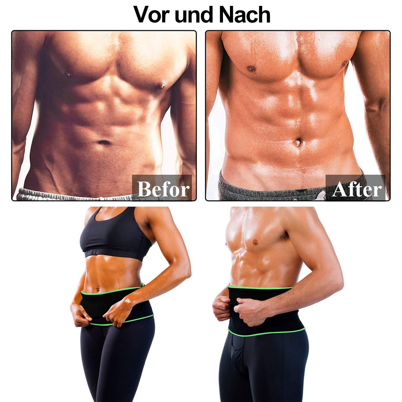 WOTEK Bauchwegg/ürtel Schwitzg/ürtel zur Fettverbrennung Fitnessg/ürtel Damen Herren Gewichtheberg/ürtel Schwei/ß Ab G/ürtel Taillen MEHRWEG Verstellbarer Neopren Hot Sauna Belt