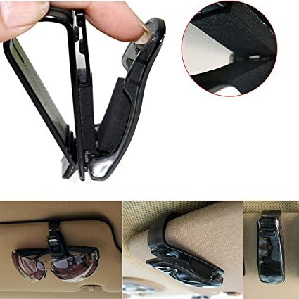 f25c7ef36ee Kasstino Car Auto Sun Visor Clip Holder For Reading Glasses Sunglasses  Eyeglass Card Pen