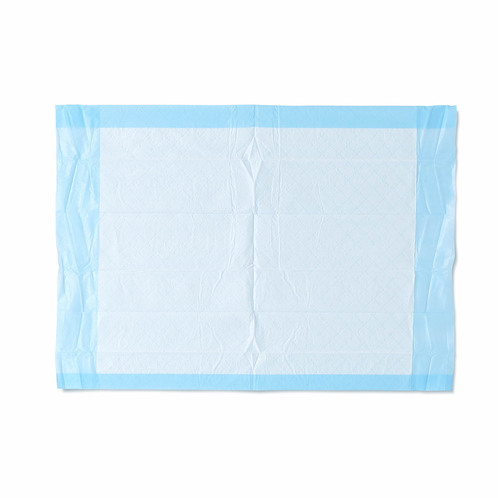 """Medline Ultra Lightweight Tissue and Plastic 17"""" x 24"""" Disposable Underpad, Great For Changing Table and Surfaces, 300 Per Case"""