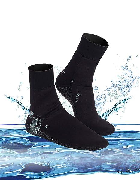 0059333e1 Junlan Water Shoes Beach Socks Neoprene Diving Boots Scuba Snorkel Booties  Surfing Wetsuit Sports Waterproof for