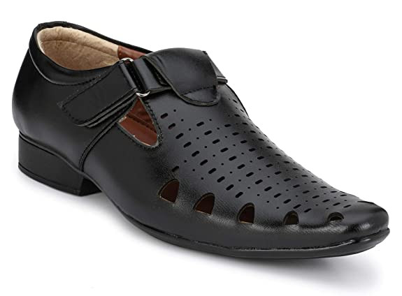 Oladin Men's Synthetic Leather Sandals Men's Formal Shoes at amazon
