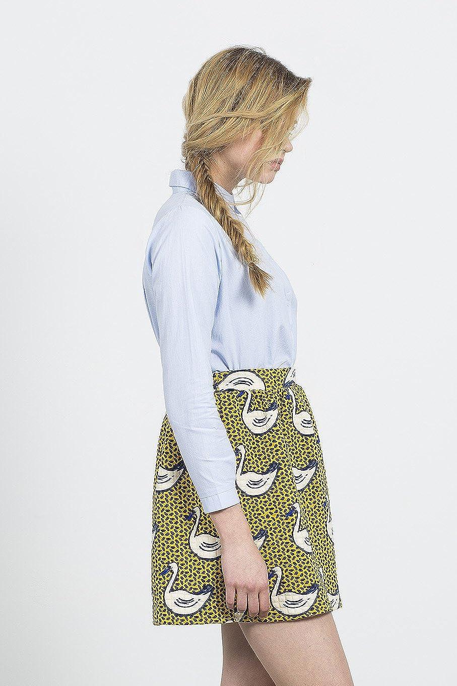 Compañia Fantastica Swan Skirt Falda Casual, Amarillo (Mustard), M ...