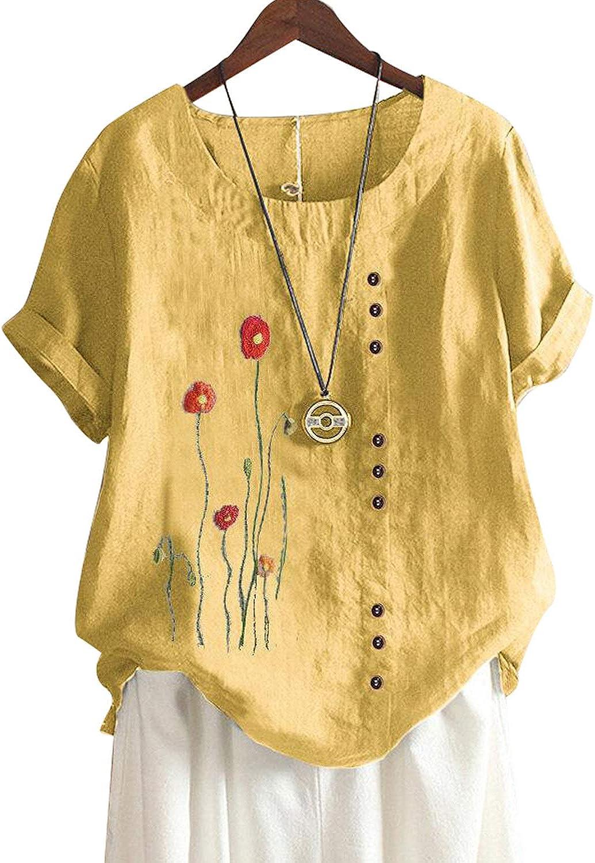 FIYOTE - Camiseta de manga corta para mujer, diseño de ...