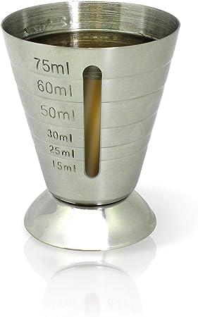 Beneficioso vasido medidor/jigger para crear ricas y envidiables copas.,Proporciona eficacia y exact