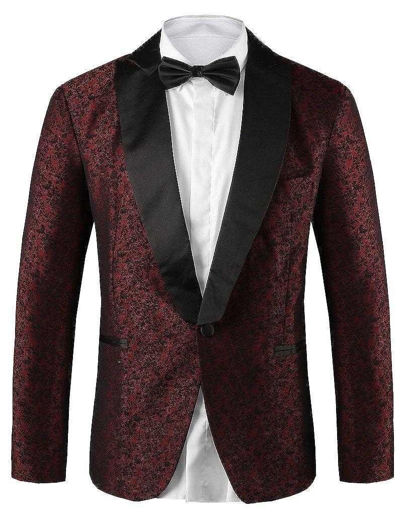Hanayome Men's Designed Slim Fit & Notch Lapel Wedding Party Tuxedo Blazers SI6 SI6-JK1