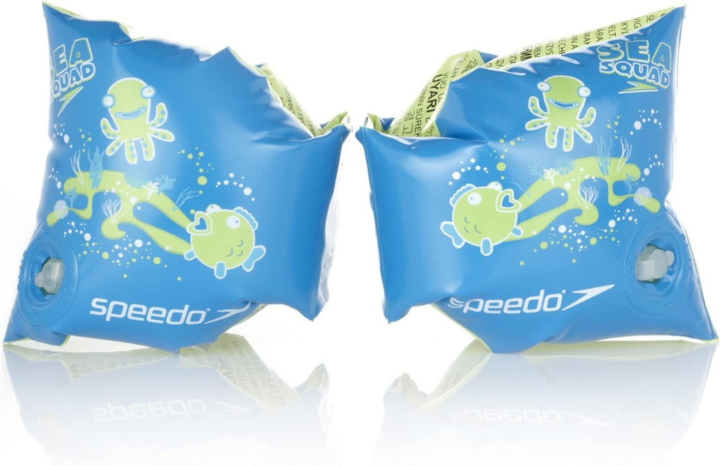 New Speedo Roll Up Arm Bands Swimming Aid Kids Printed Blue Armbands  2-12 old