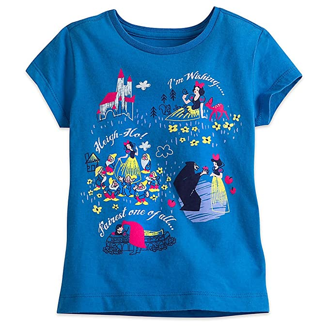 11197ff1f8 Disney Snow White and The Seven Dwarfs Tee for Girls Size XS (4) Blue