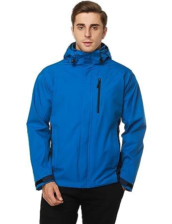 Amazon.com: MIER para hombre con capucha Chaquetas de lluvia ...