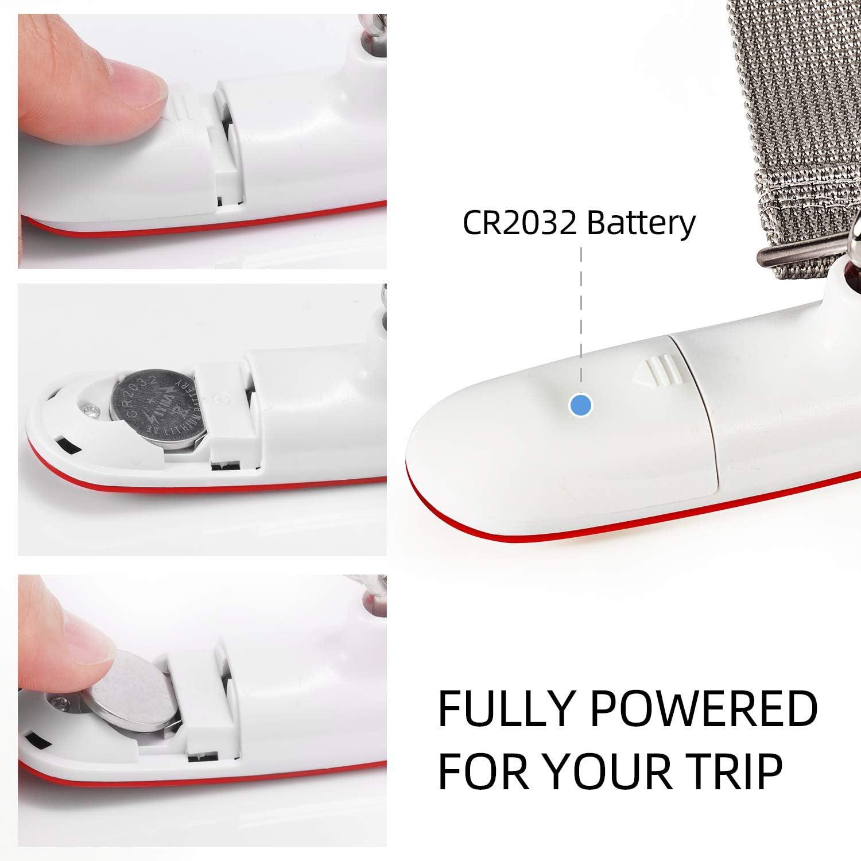 LCD Port/átil Escala de Equipaje 110 lb//50 kg Capacidad Bater/ía Incluida para Viajes Al Aire Libre Negro FREETOO Digital Balanza B/áscula de Equipaje