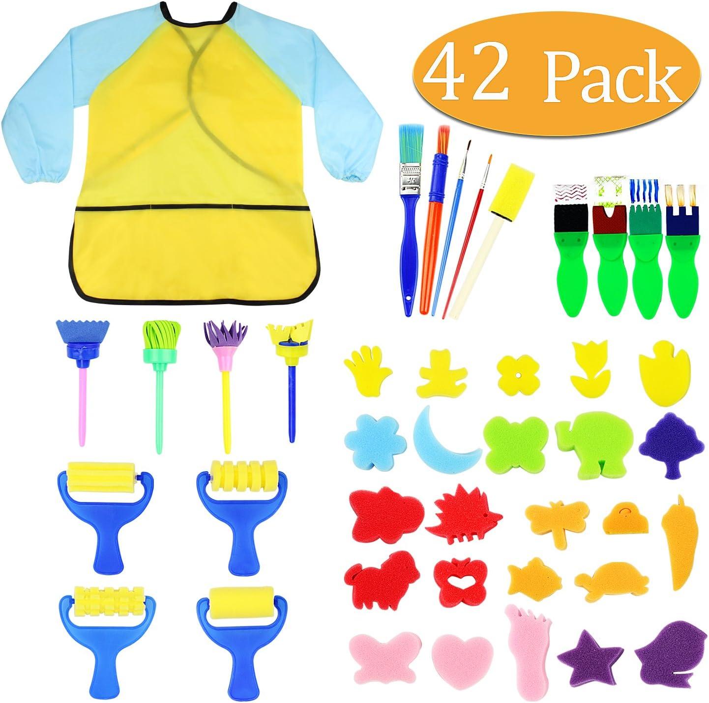30 pcs//Lot Foam Sponge Brushes Wooden Handle Painting Drawing Craft Draw Brushes Sponge Painting Brushes