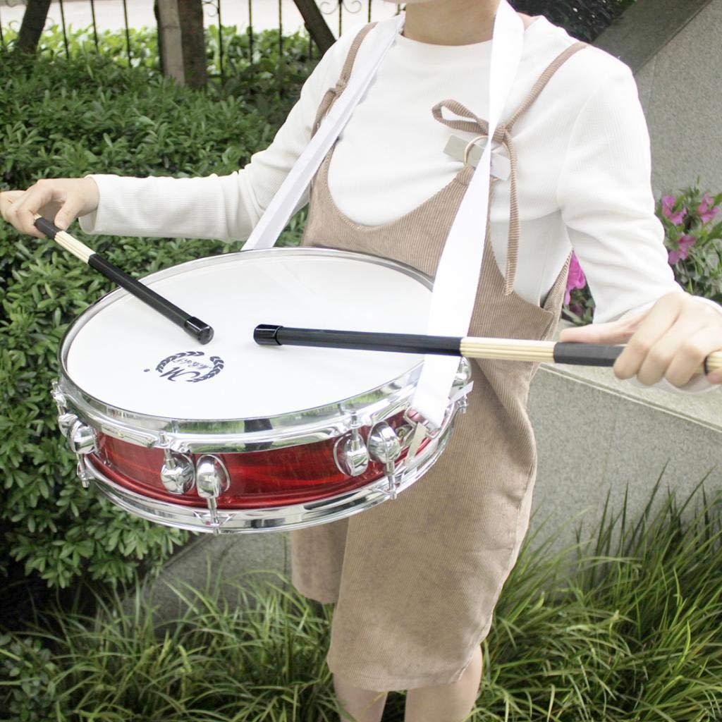 kesoto 2pcs Jazz Drum Rod Brosses Maillets Noir Pour Enfants Adultes D/ébutants /Étudiants Batteur