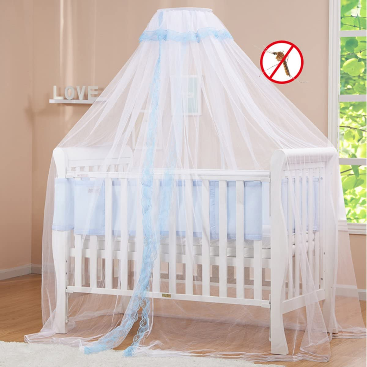 JUSTDOLIFE Child Mosquito Net Cuna Cortina Transpirable Lace Dome Bed Cortina para El Hogar