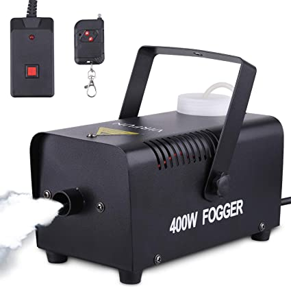 Amazon.com: Portable Halloween and Party Fog Machine with Wireless Remote Control, VIRFUN Smoke Machine for Holidays, Weddings with Overheat Protection: Musical Instruments
