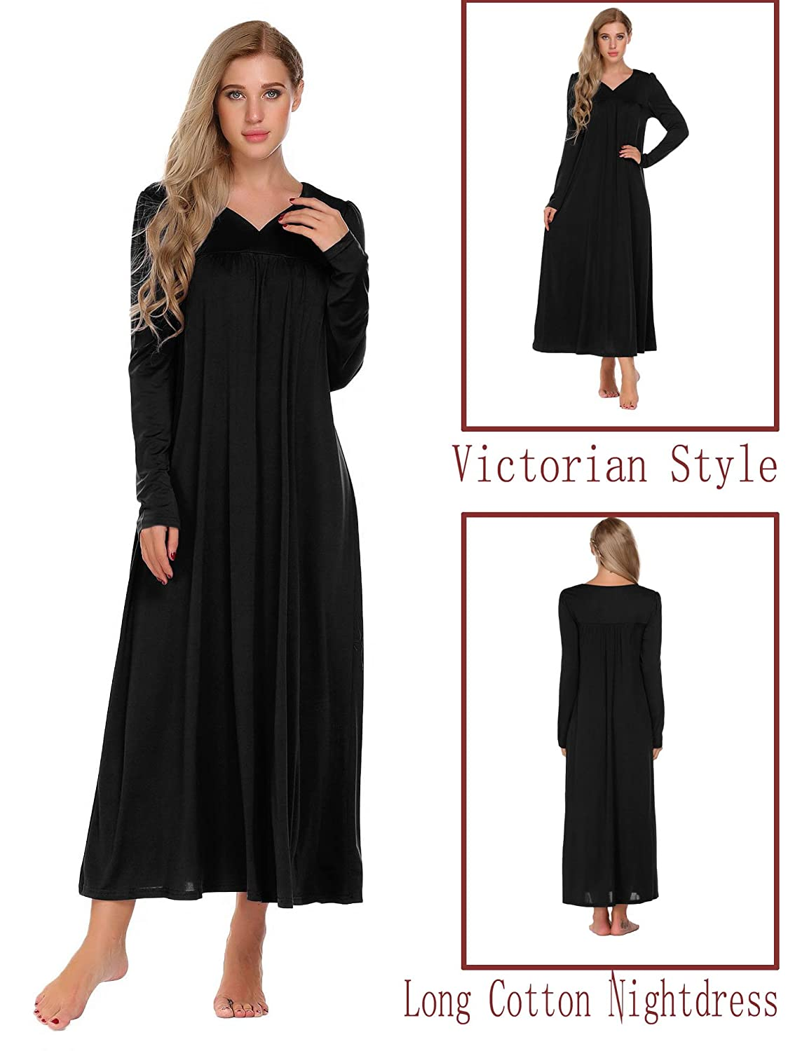 fa9a2d38d909b Sleepwear   Robes Sets Acecor Women Sleepwear Deep V-Neck Backless Solid  Loose Nightdress S-XXL