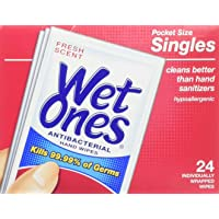 5-Pack of 24-Count Wet Ones Antibacterial Hand and Face Wipes