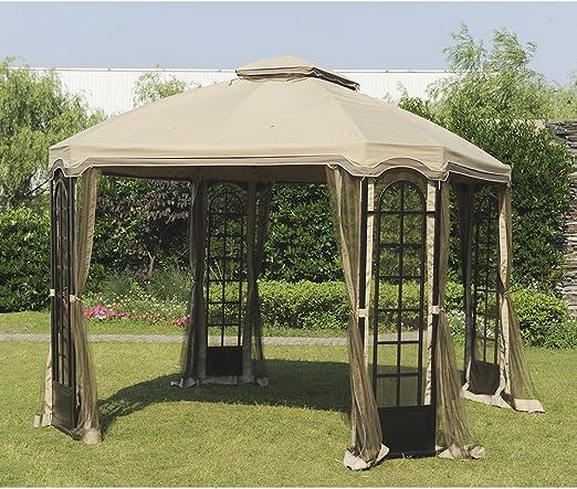 Sunjoy 110109206 12 x 10 terraza Gazebo toldo de Repuesto Set ...