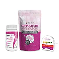 NutraBlast Boric Acid Suppositories 600mg (30 Count) w/NutraBlast Disposable Vaginal...