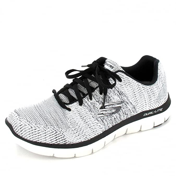 Skechers - 52180 - Flex Advantage 2.0 - Basket Sportive - Homme - Noir (Black/White) - 42 EU