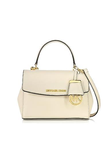 32bf1ada472e Michael Kors Designer Handbags Ava Ecru Saffiano Leather Extra Small  Crossbody Bag  Amazon.co.uk  Shoes   Bags