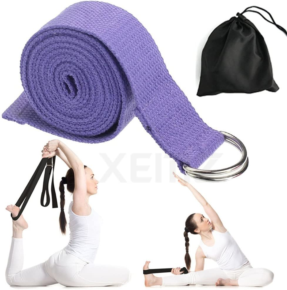 KE/_ CO/_ KF/_ 1Pcs Yoga Stretch Strap D-Ring Waist Leg Fitness Exercise Training
