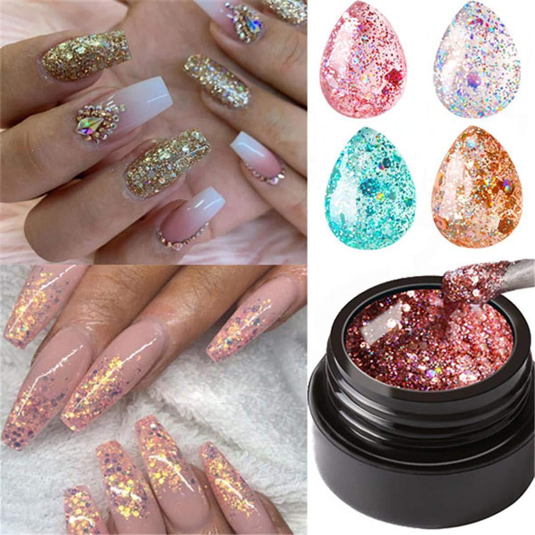 XioNiu Glitter Nail Glue LED Super Platinum Nail Gel Polish Shiny Nail Art Care Tools Nail Glue