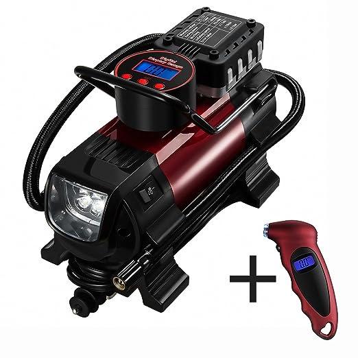 4 opinioni per Compressore Portatile, OMorc Compressore Multifunzionale Aria Portatile 12V DC