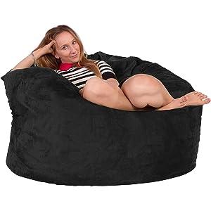 b8ebab0072de Lounge Lizard - Suede - GIANT MEMORY FOAM Bean Bag Chair – Huge Beanbag