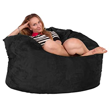 Fantastic Lounge Lizardtm Suede Giant Memory Foam Bean Bag Chair Uwap Interior Chair Design Uwaporg