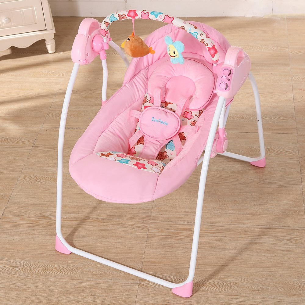 Decdeal Electric Baby Cradle Swing Rocking Remote Controller Chair For Newborn Infant by Decdeal