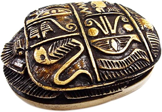 20 Authentically Handmade Egyptian Ceramic Stone Scarab Beads for Jewelry