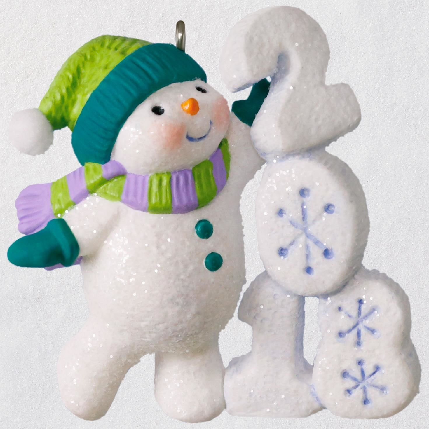 Hallmark Christmas Ornament Keepsake 2018 Year Dated, Frosty Fun Decade by Hallmark