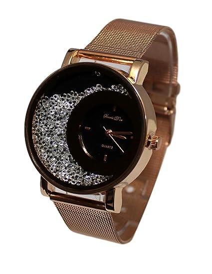 Coffret reloj mujer Gold rosa malla Milanaise + pulsera Junco colección Dolce Vita