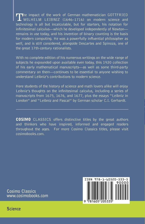 Buy The Early Mathematical Manuscripts of Leibniz Book