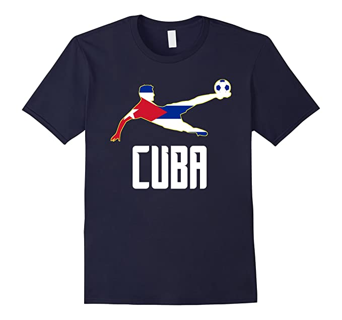 Mens Camiseta Futbol Cuba - Cuban Soccer T-shirt 3XL Navy